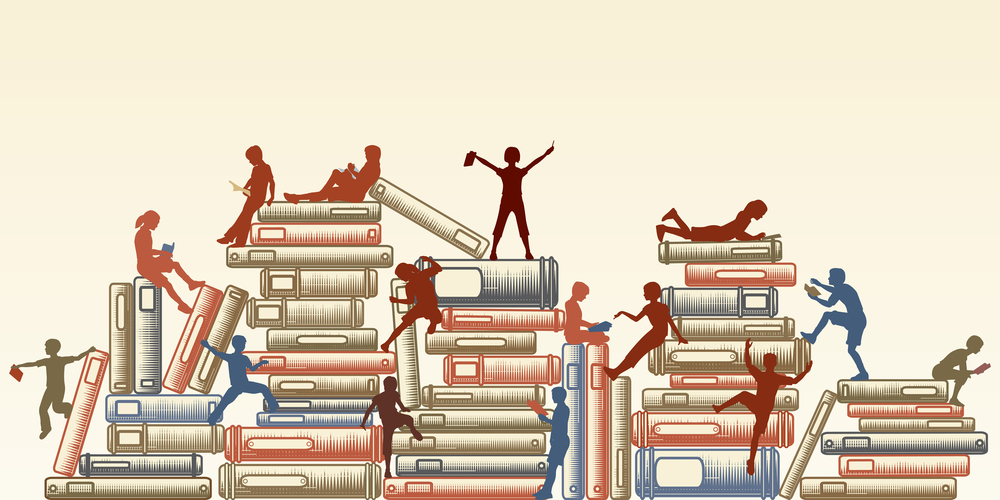 Tawng. (n.d.). Editable vector illustration of children reading and clambering over piles of books [Image]. Bigstock.com. Retrieved from http://www.bigstockphoto.com/image-14348795/stock-vector-editable-vector-illustration-of-children-reading-and-clambering-over-piles-of-books
