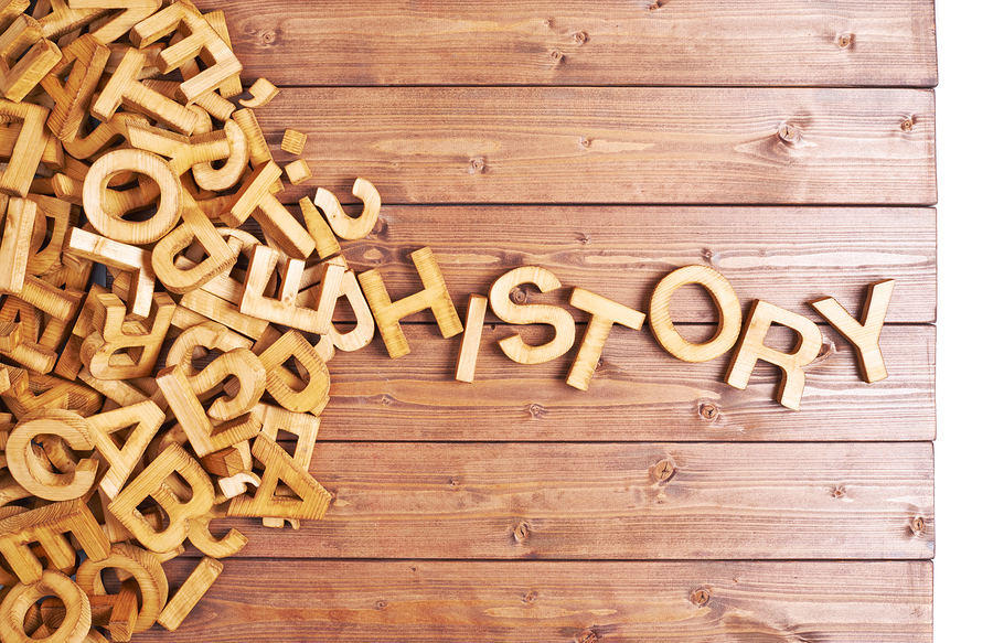 exopixel. (n.d.). Word history made with wooden letters [Image]. Bigstock.com. Retrieved from http://www.bigstockphoto.com/image-97484270/stock-photo-word-history-made-with-wooden-letters